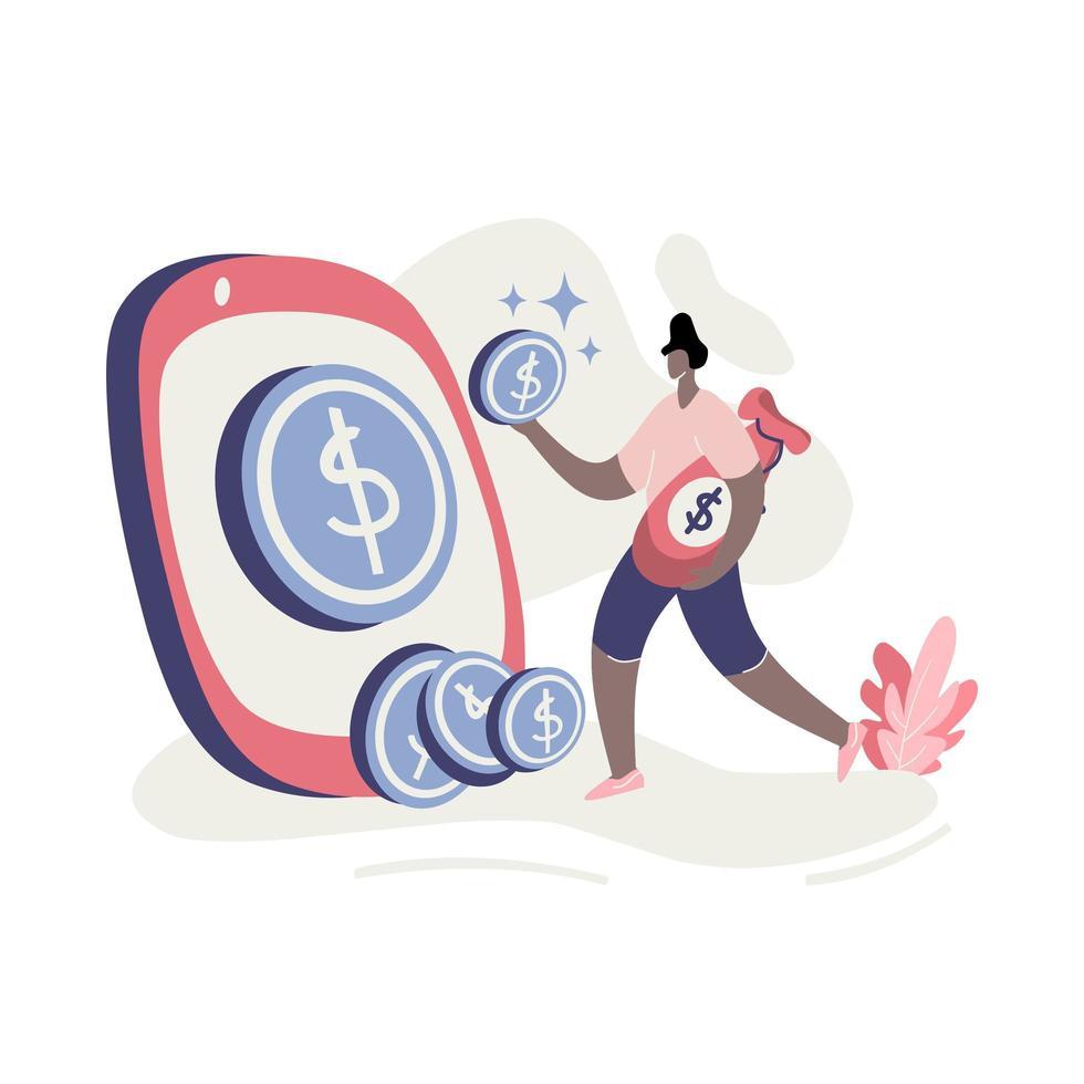 illustratie geld verdienen vector