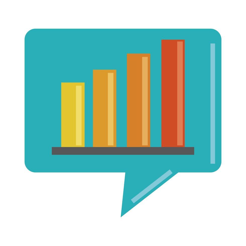 data-analyse, financiële business diagram strategie marketing platte pictogram vector