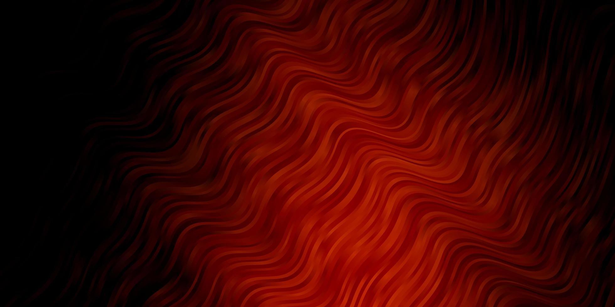 donkerrode vectorlay-out met krommen. vector