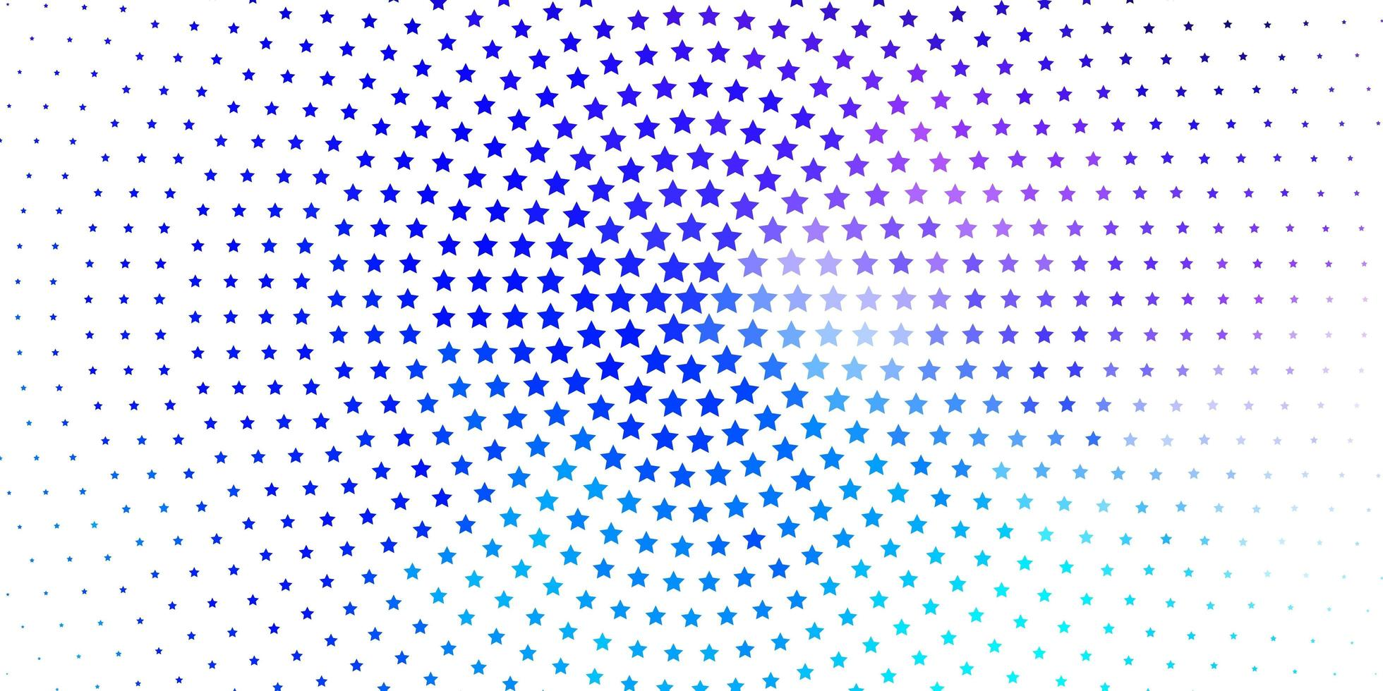 lichtroze, blauwe vectorachtergrond met kleurrijke sterren. vector