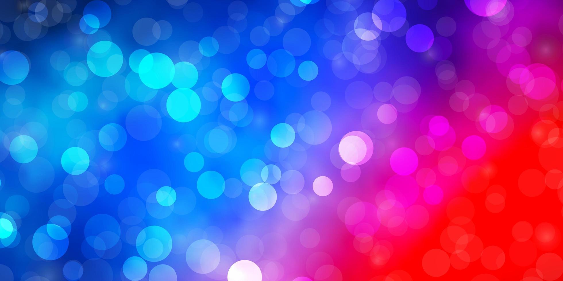 lichtblauwe, rode vectortextuur met cirkels. vector