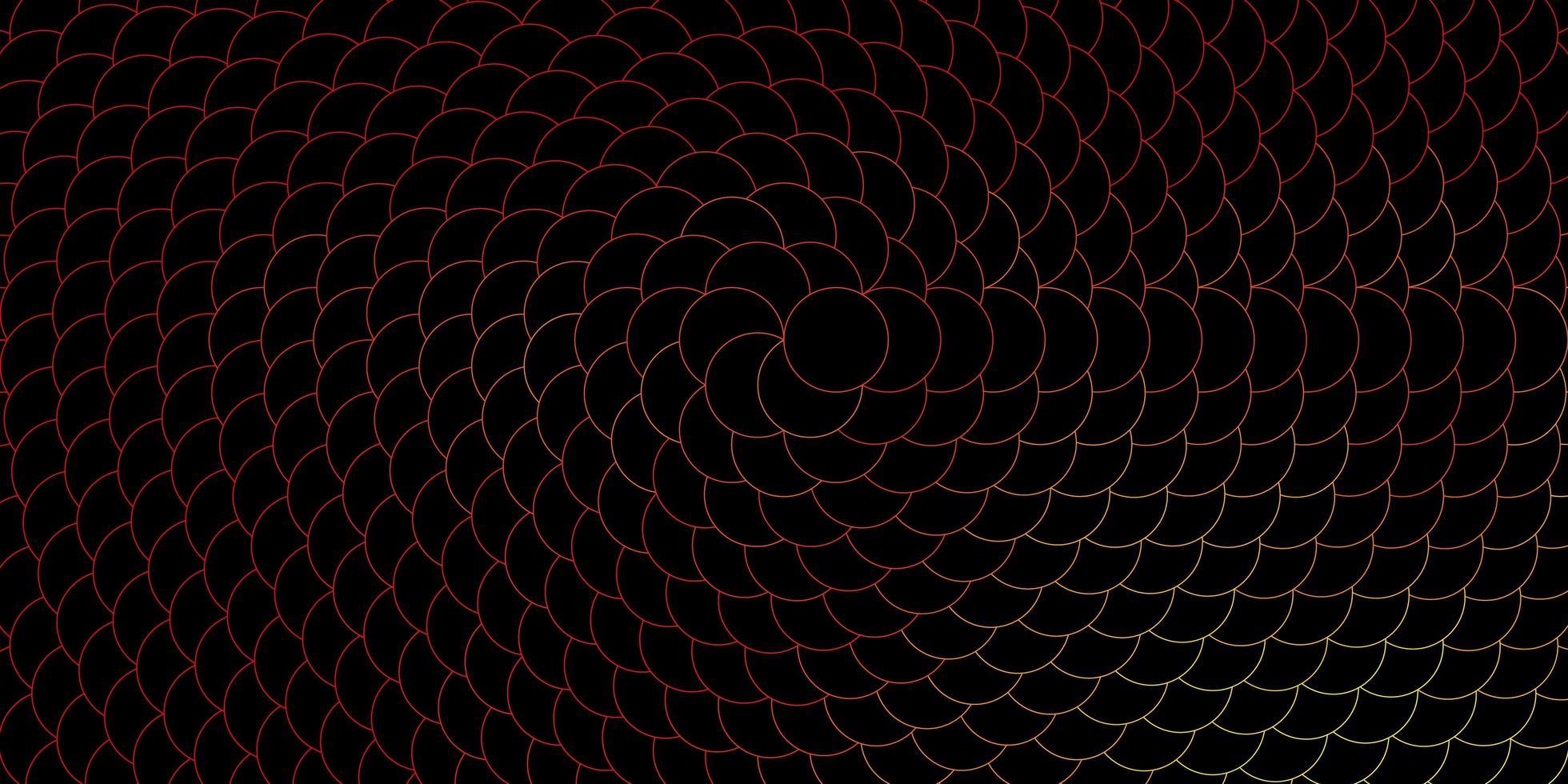 donkerrode, gele vectorachtergrond met stippen. vector