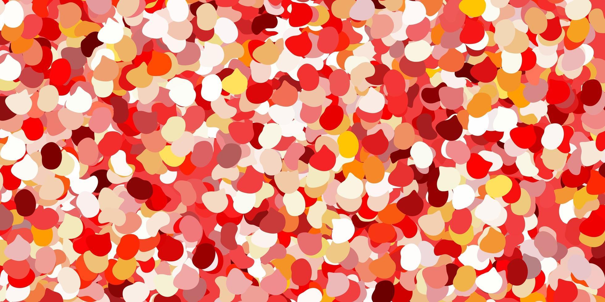 lichtrood, geel vectormalplaatje met abstracte vormen. vector