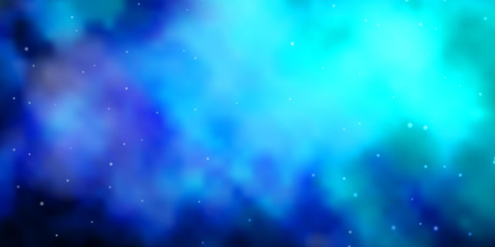donkerblauw vectorpatroon met abstracte sterren. vector