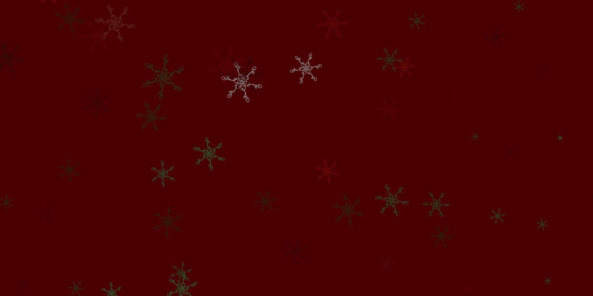 lichtgroene, rode vectorachtergrond met gebogen lijnen. vector