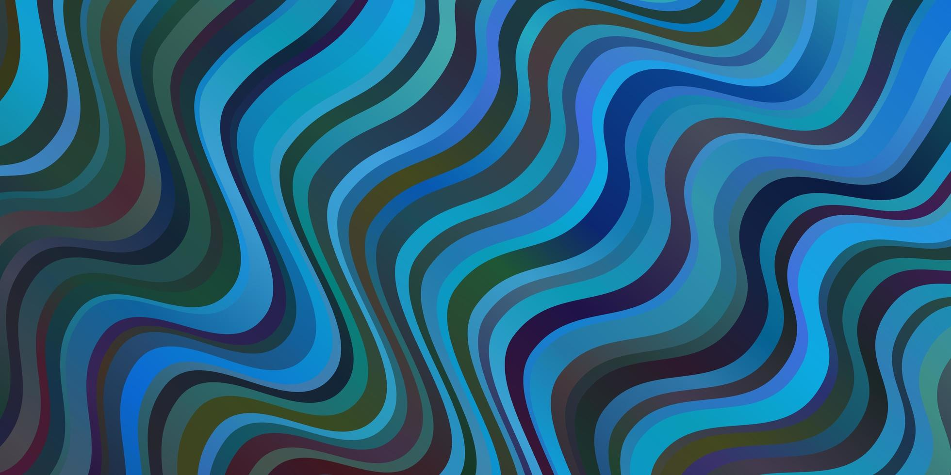lichtblauwe vector sjabloon met wrange lijnen.