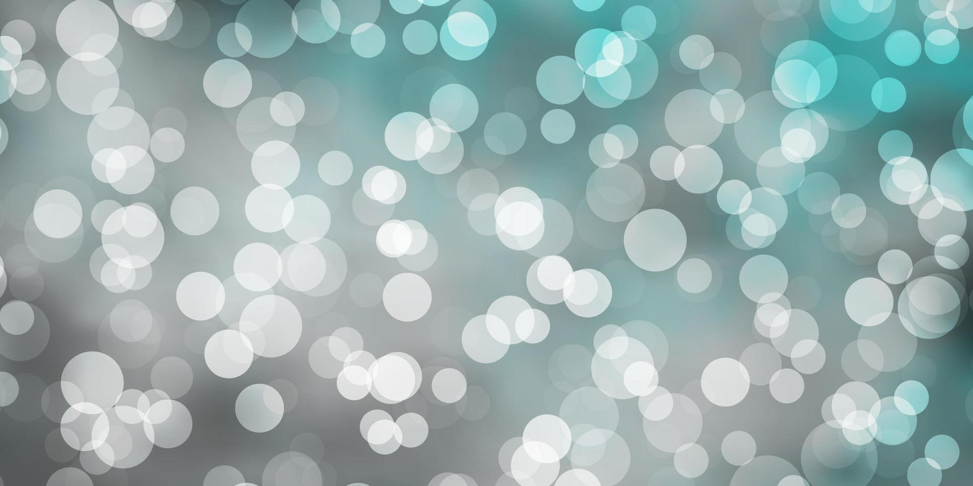 lichtblauwe vector achtergrond met cirkels.