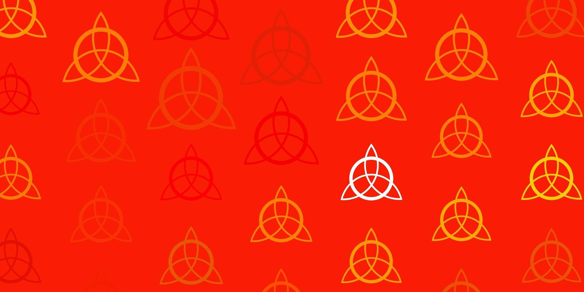 lichtgele vectortextuur met religie symbolen. vector