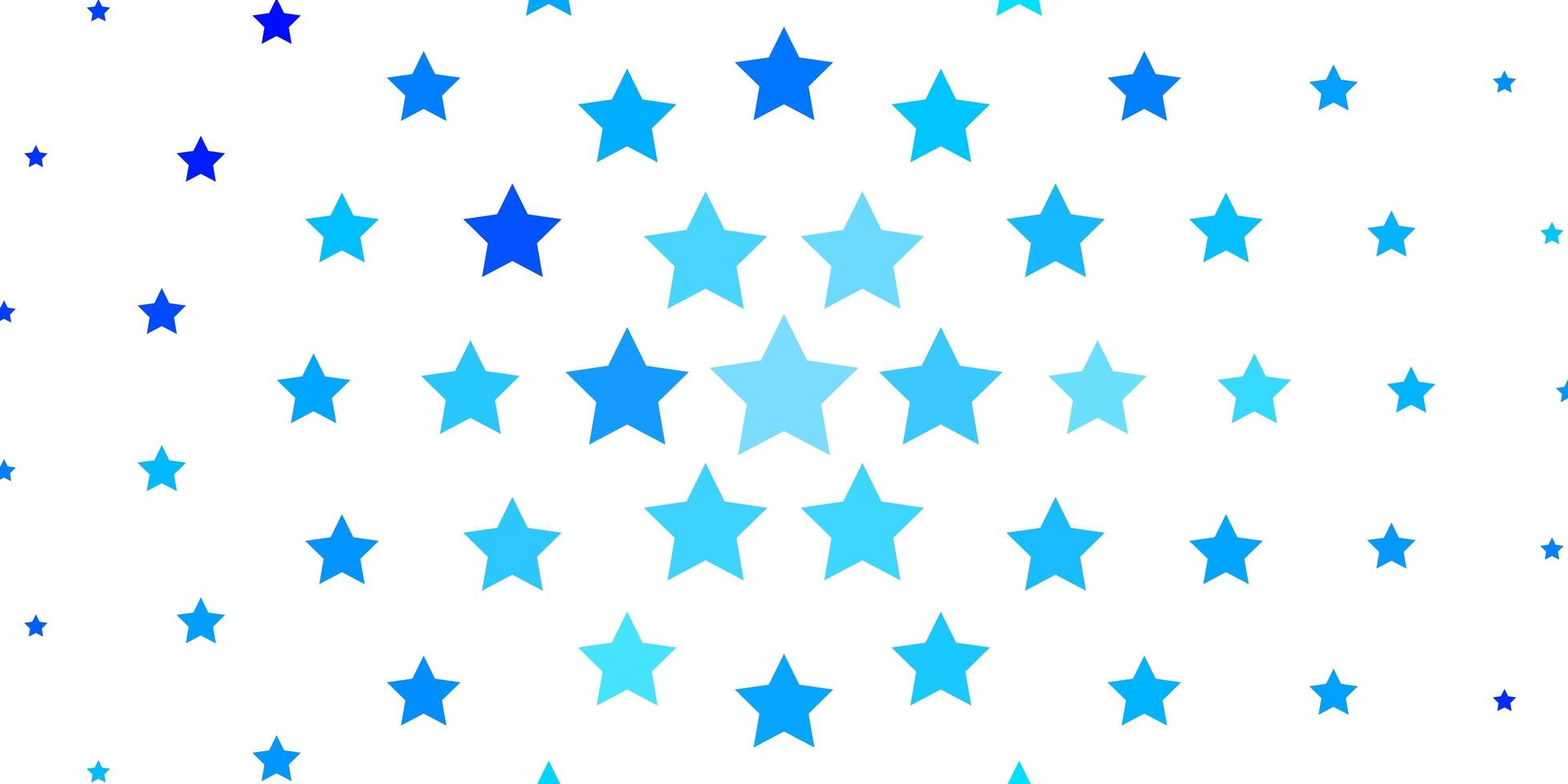 lichtblauwe vectorlay-out met heldere sterren. vector