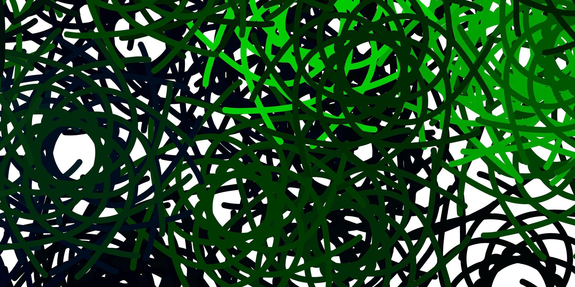 lichtgroen vectormalplaatje met abstracte vormen. vector