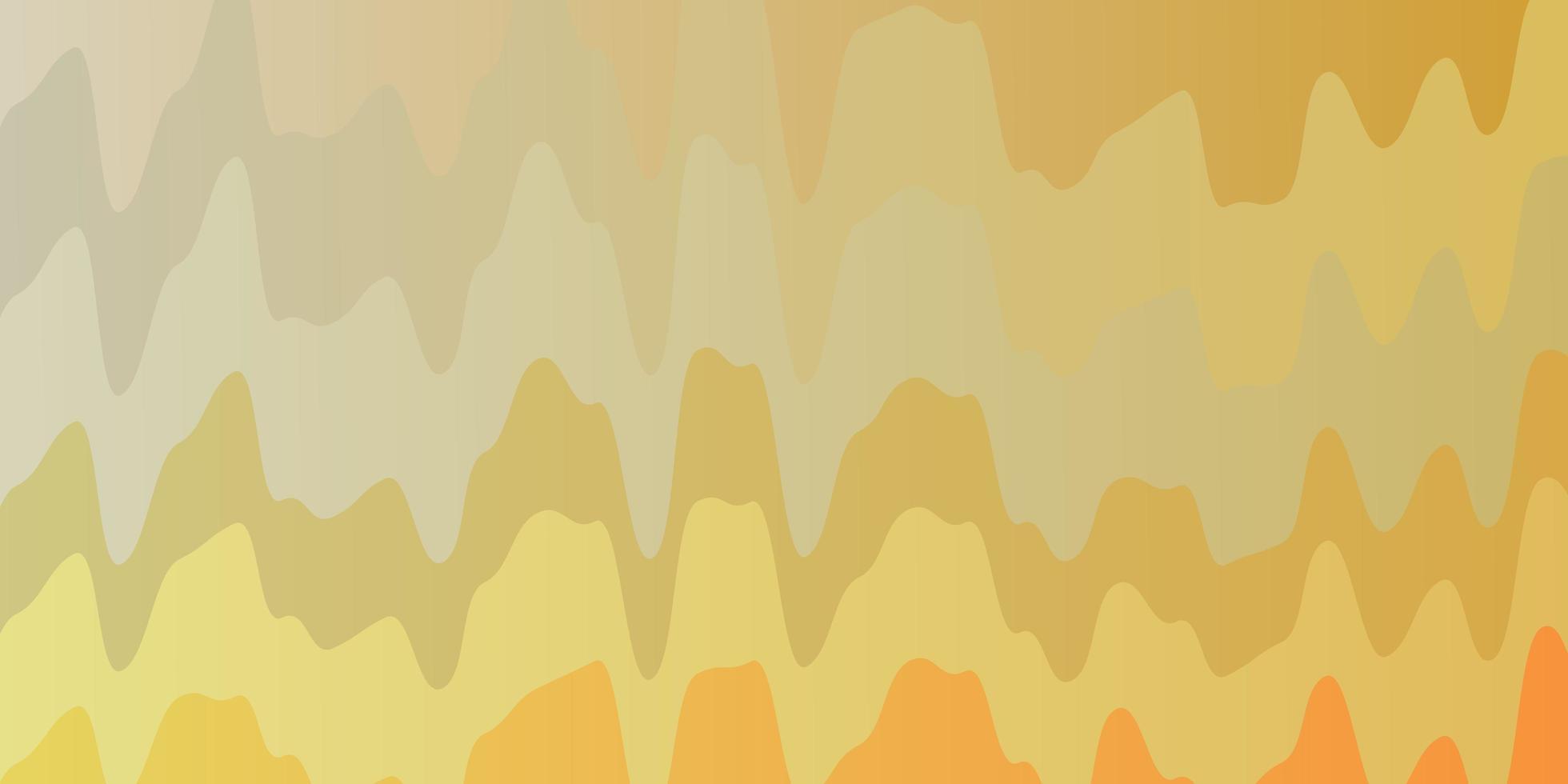 lichtrode, gele vectorlay-out met curven. vector
