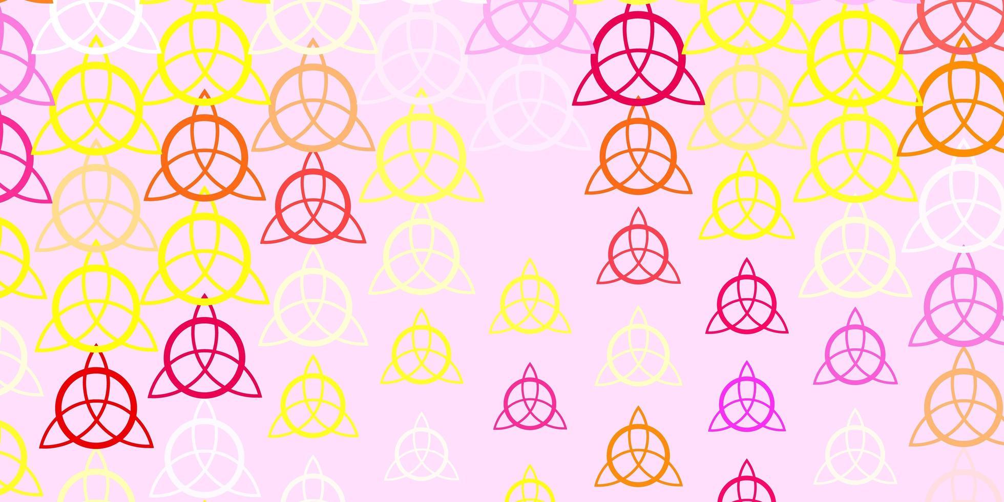lichtpaarse vector sjabloon met esoterische tekens.