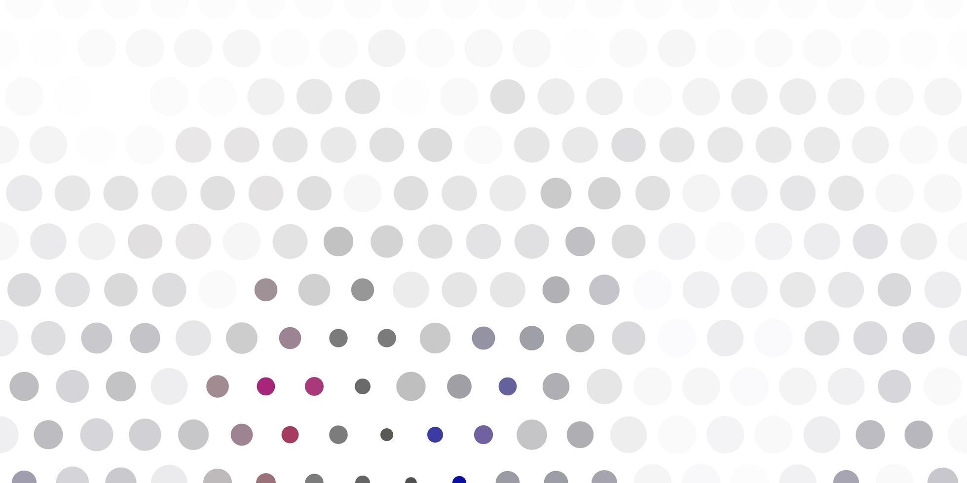 lichtgrijs vectorpatroon met bollen. vector