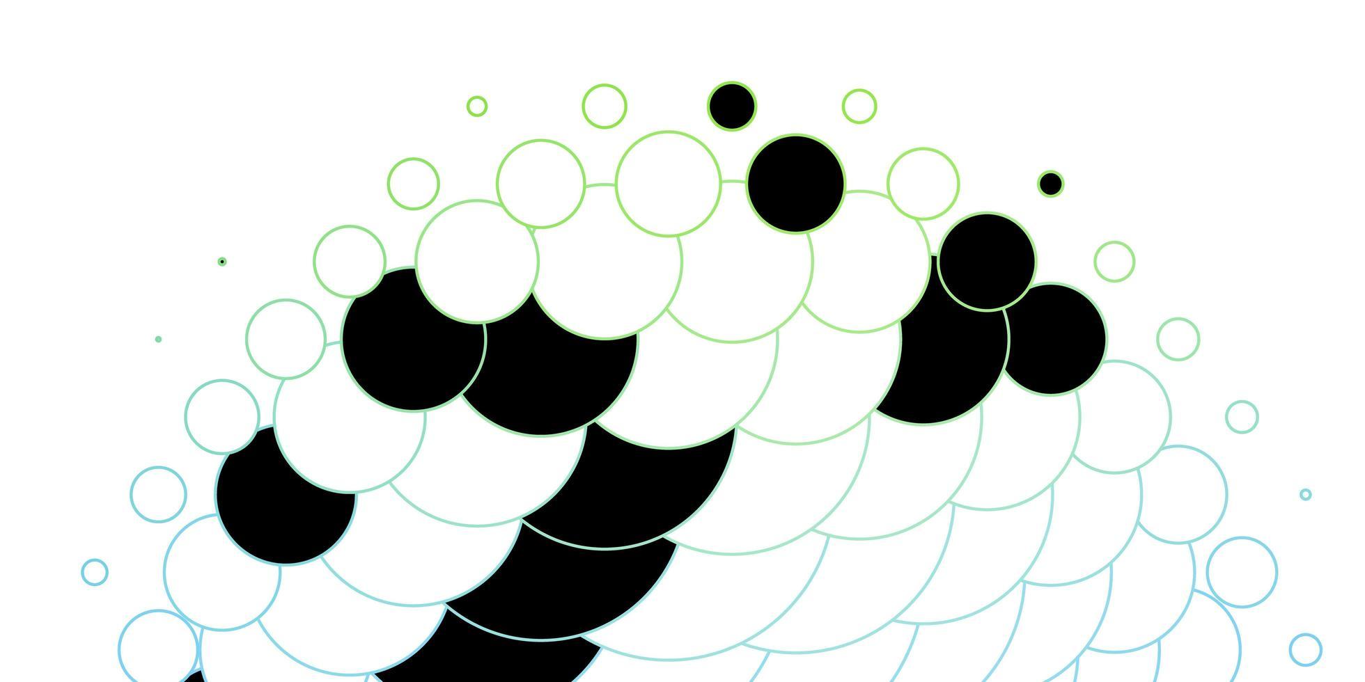 donkerblauwe, groene vectorachtergrond met cirkels. vector