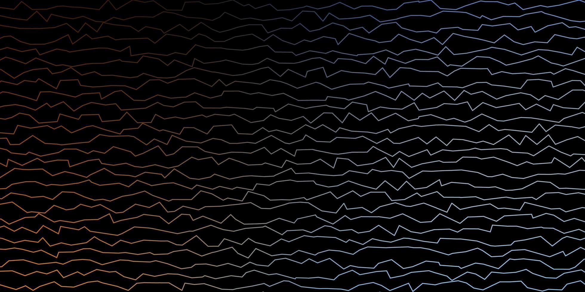 donkerblauw, geel vectorpatroon met lijnen. vector