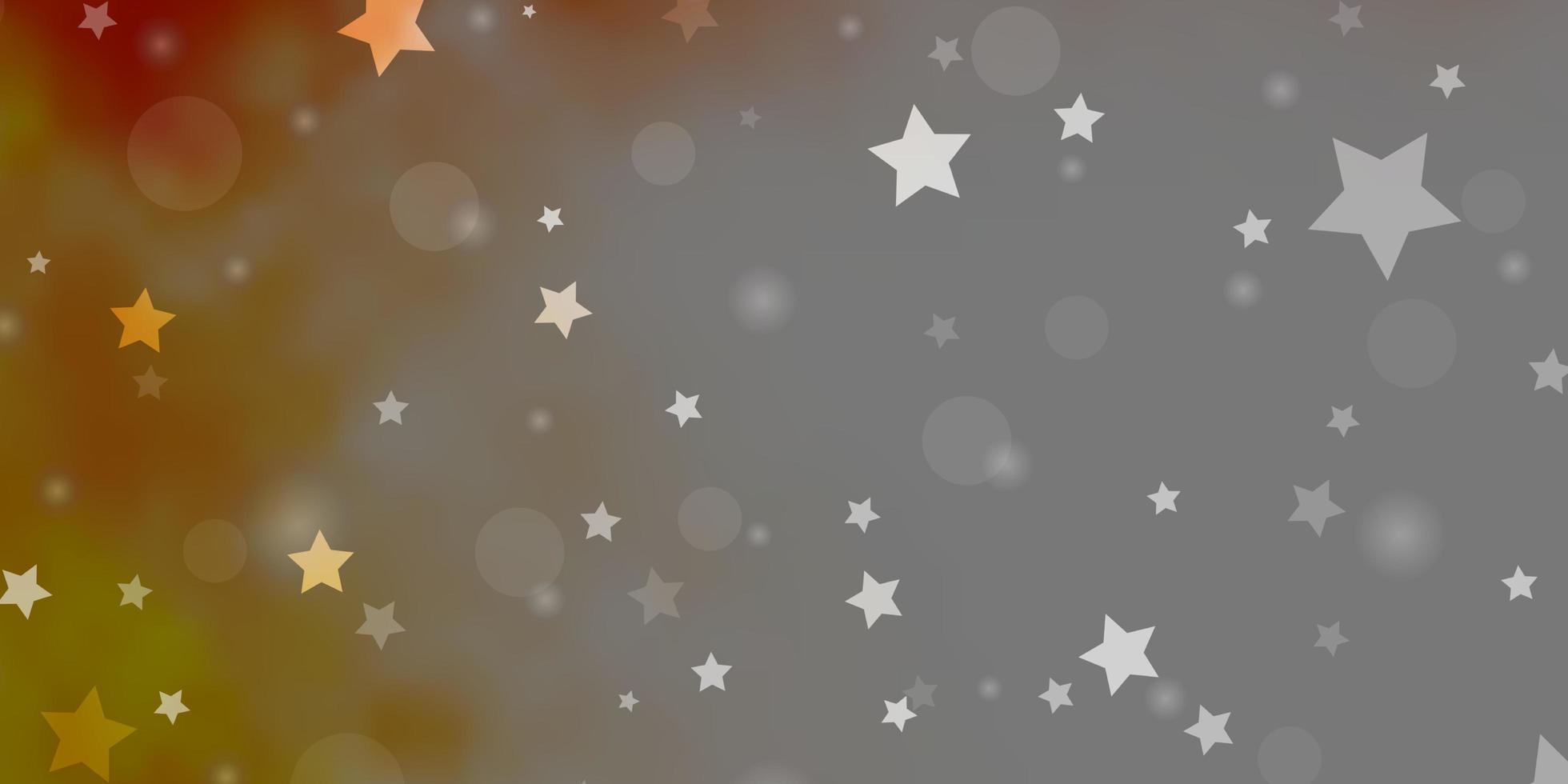 lichtoranje vectorlay-out met cirkels, sterren. vector