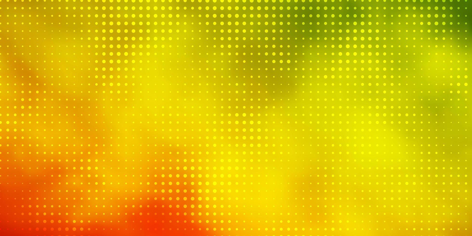 lichtgroene, rode vectorachtergrond met vlekken. vector
