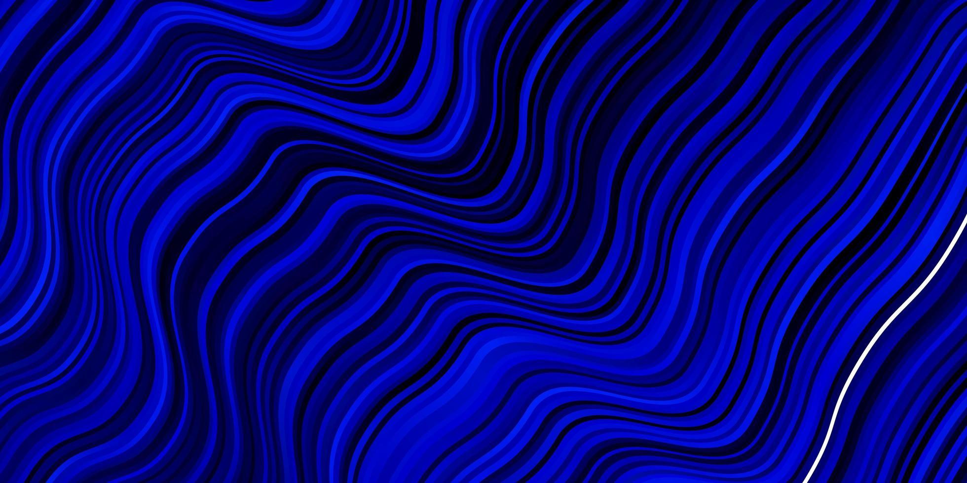 donkerblauwe vectorachtergrond met gebogen lijnen. vector