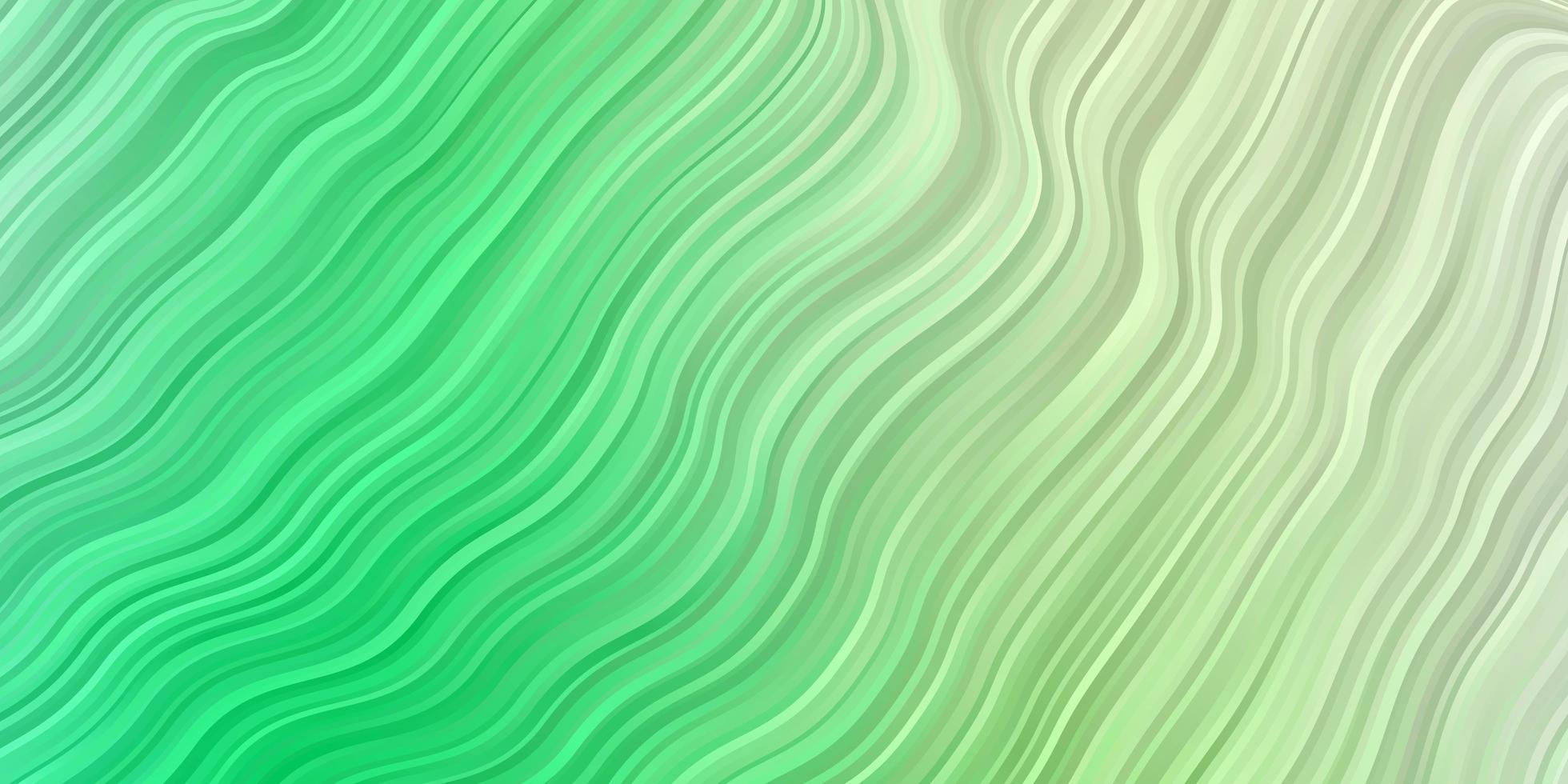 lichtgroen vectorpatroon met wrange lijnen. vector
