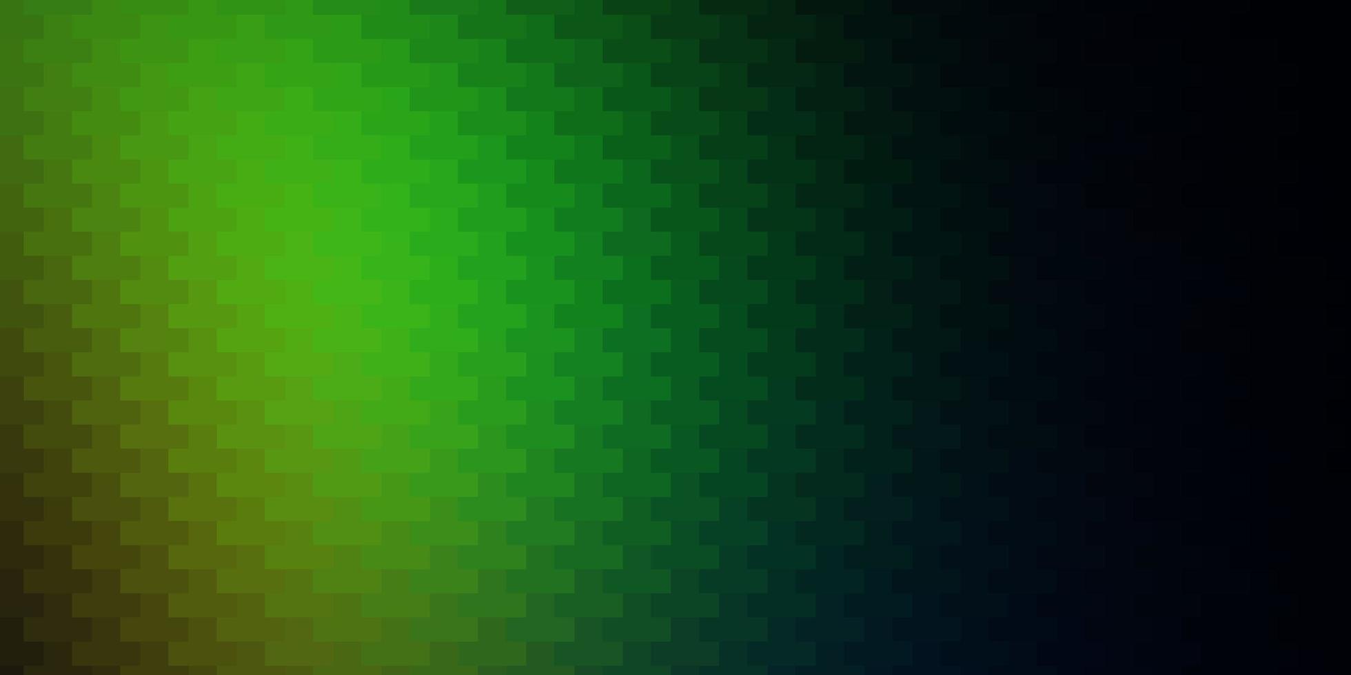 donker veelkleurig vectorpatroon in vierkante stijl. vector