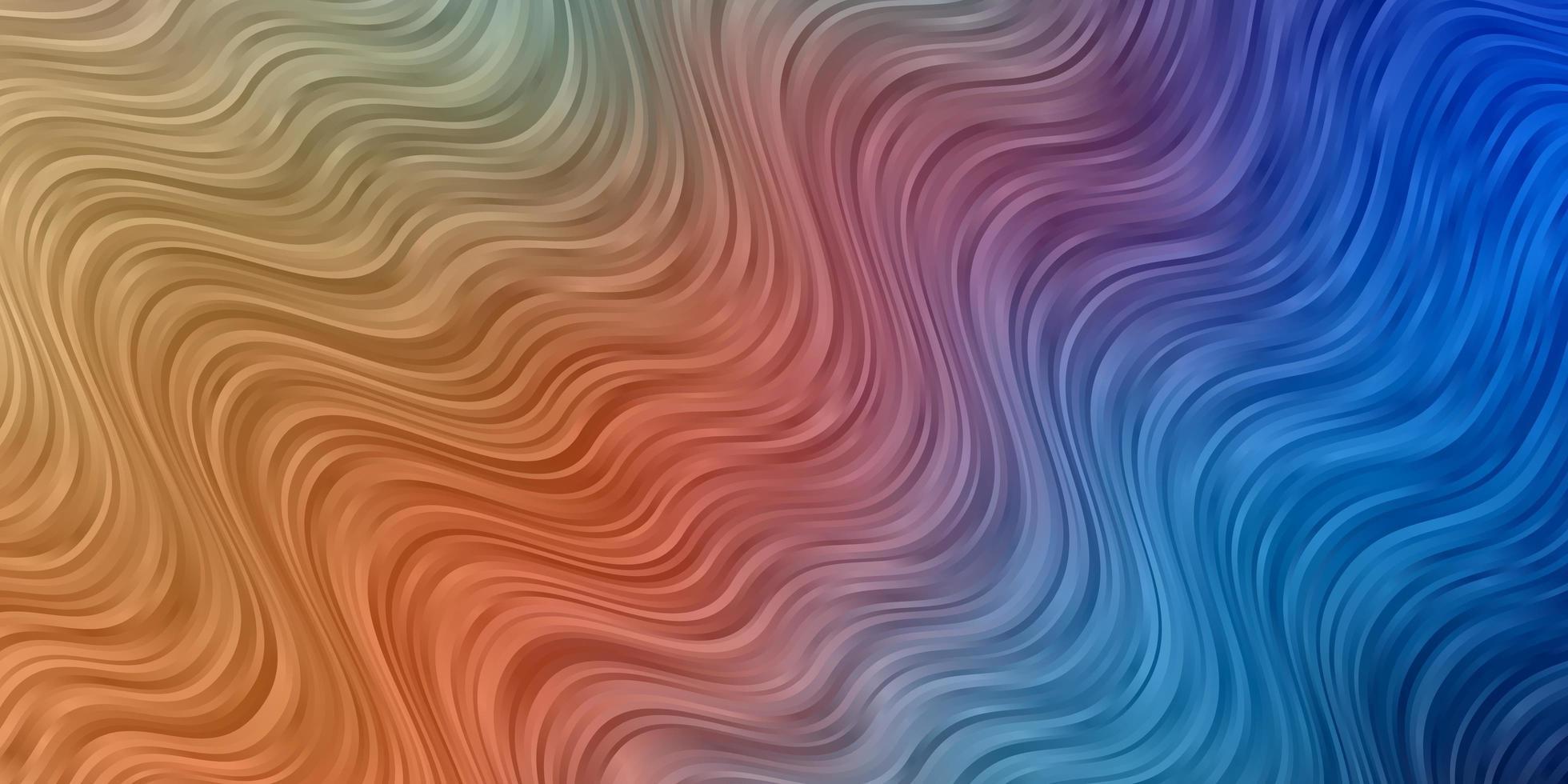 lichtblauw, geel vector sjabloon met curven.