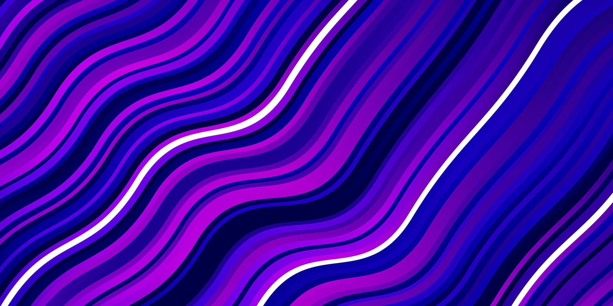 lichtroze, blauw vector sjabloon met gebogen lijnen.