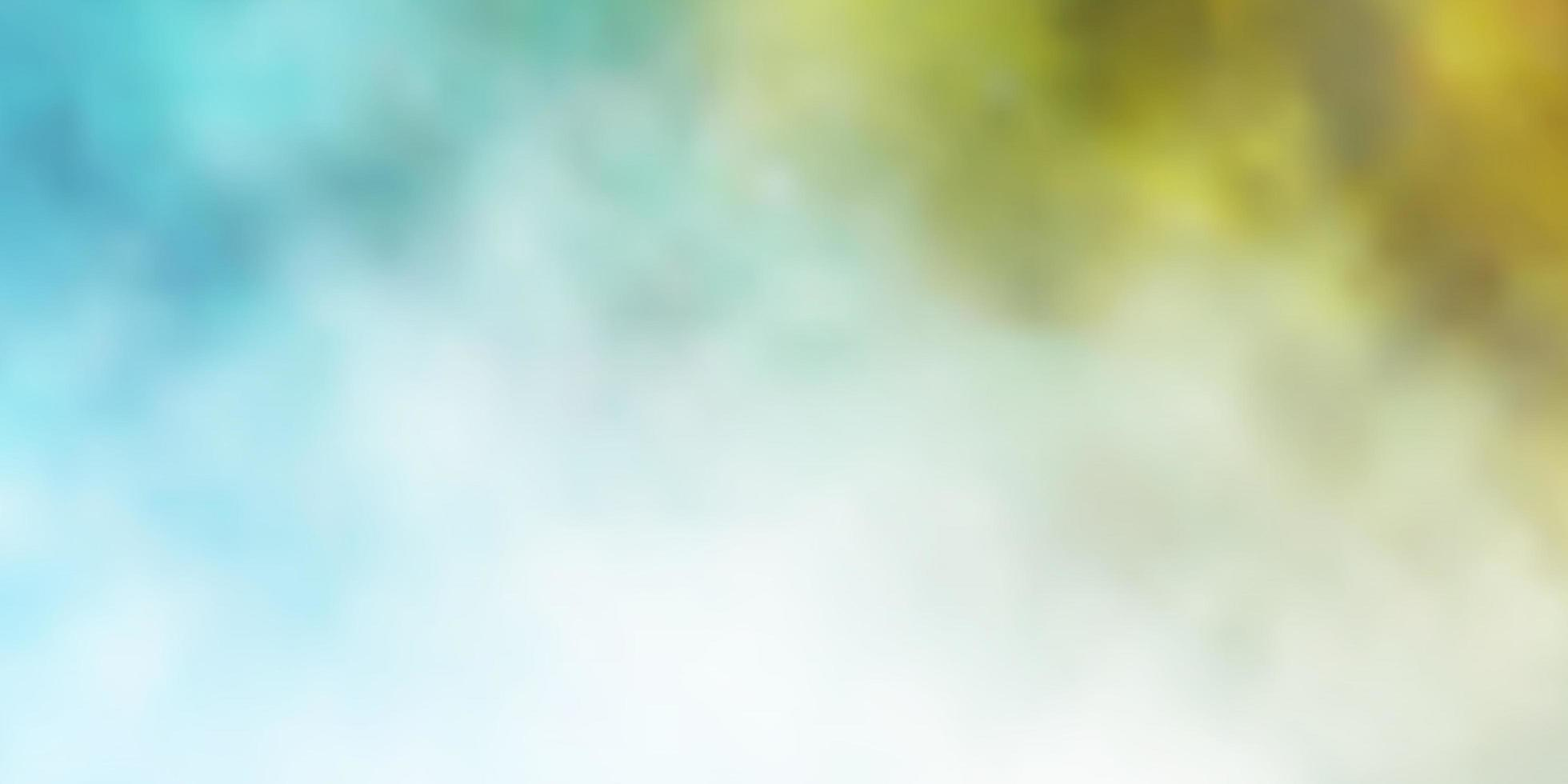 lichtblauwe, gele vectorachtergrond met wolken. vector