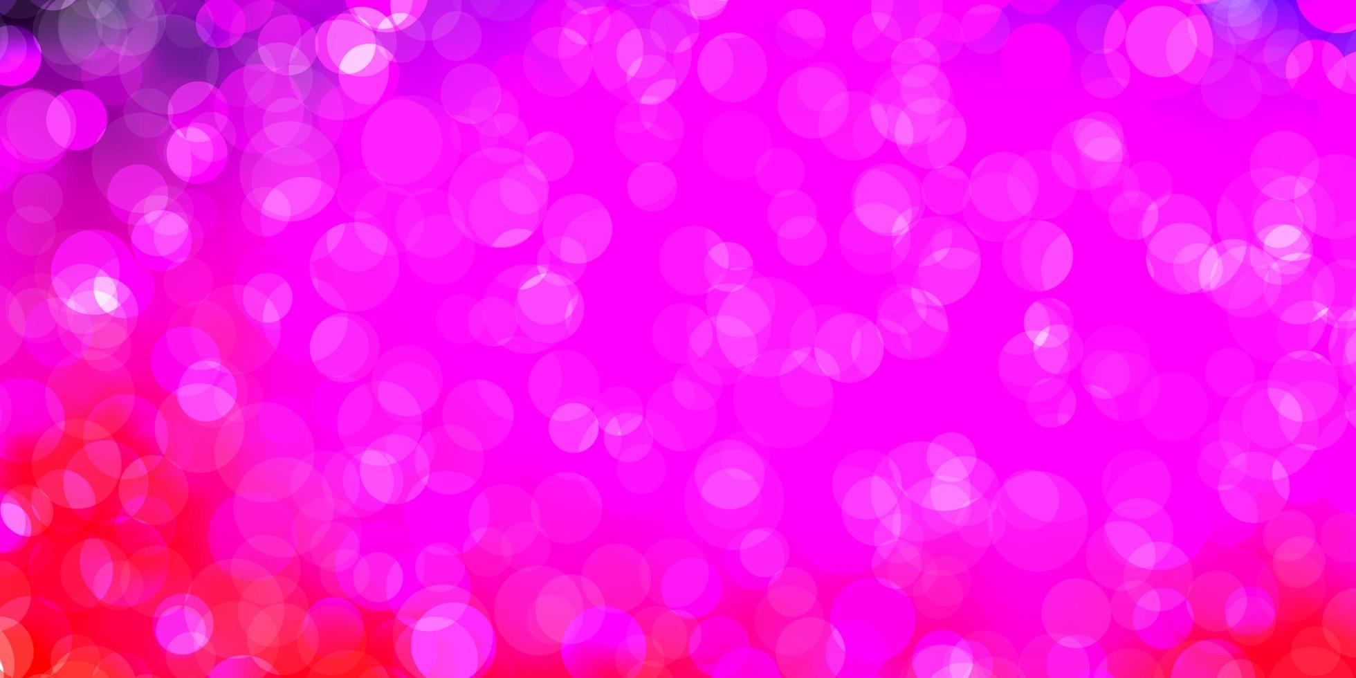 lichtpaarse, roze vector achtergrond met vlekken.