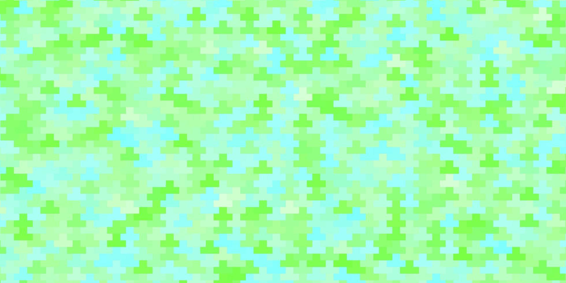 lichtgroen vectorpatroon in vierkante stijl. vector
