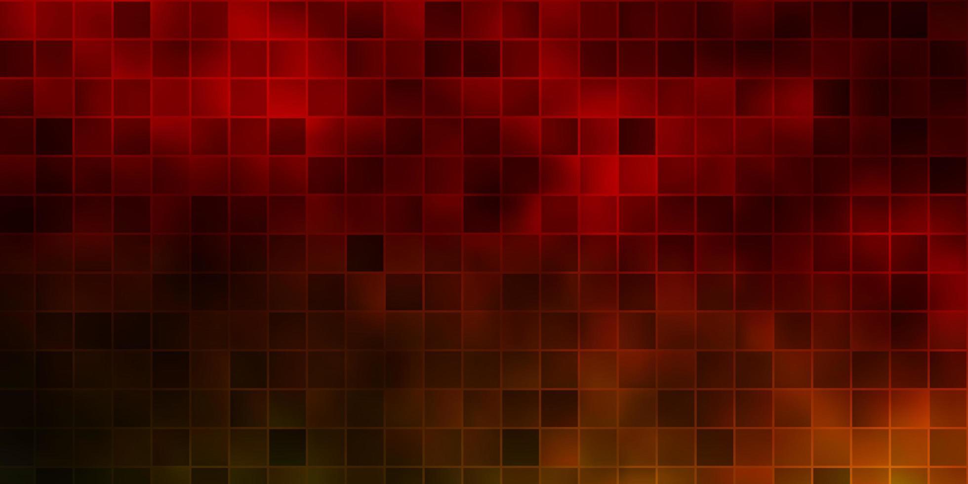 donkergroen, geel vectorpatroon in vierkante stijl. vector
