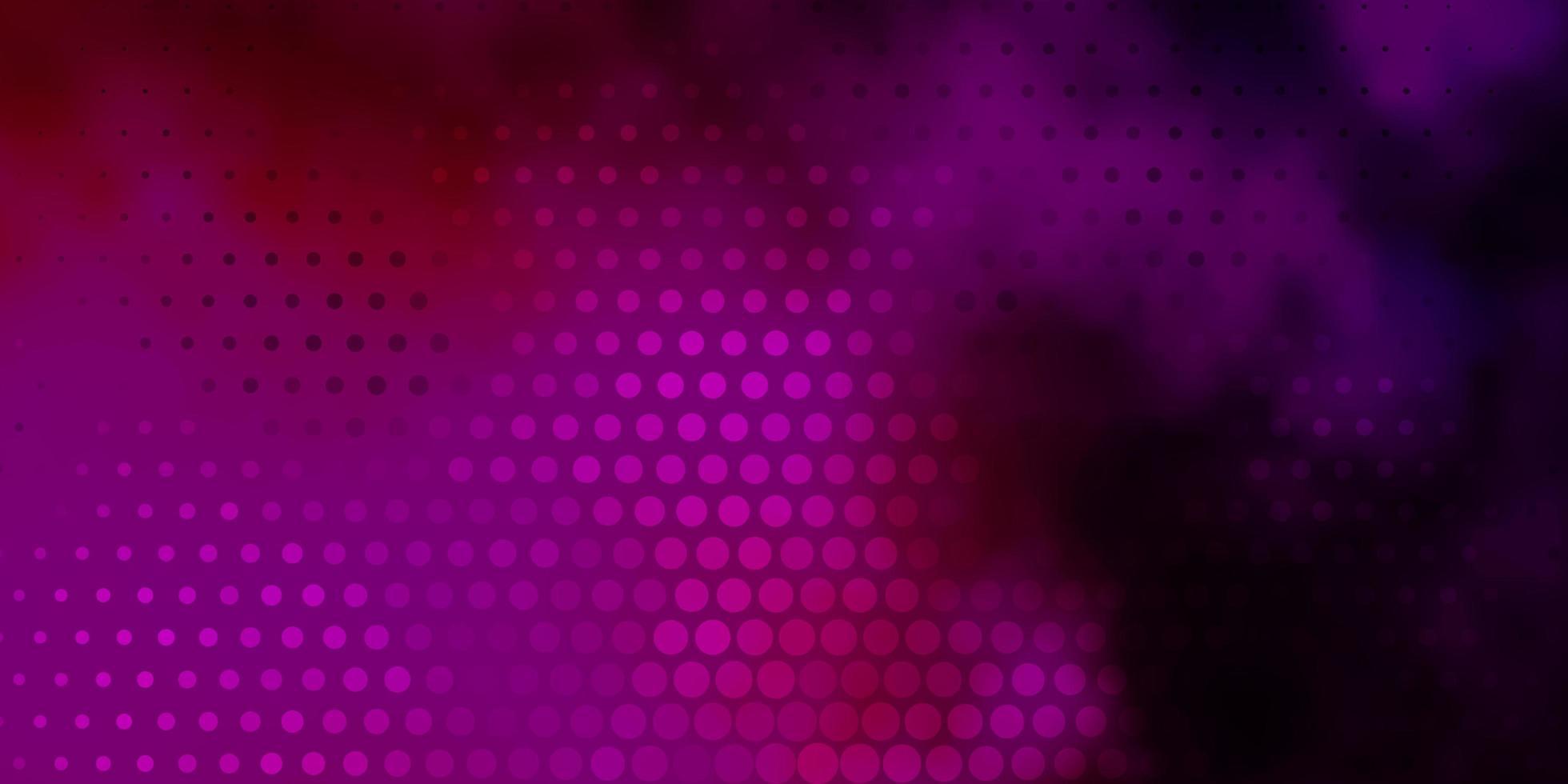 donkerroze vectorlay-out met cirkelvormen. vector