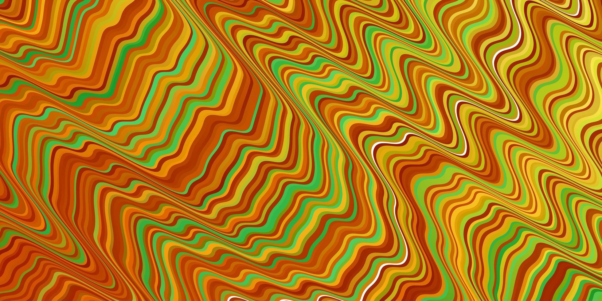 lichtgroene, gele vectorachtergrond met lijnen. vector