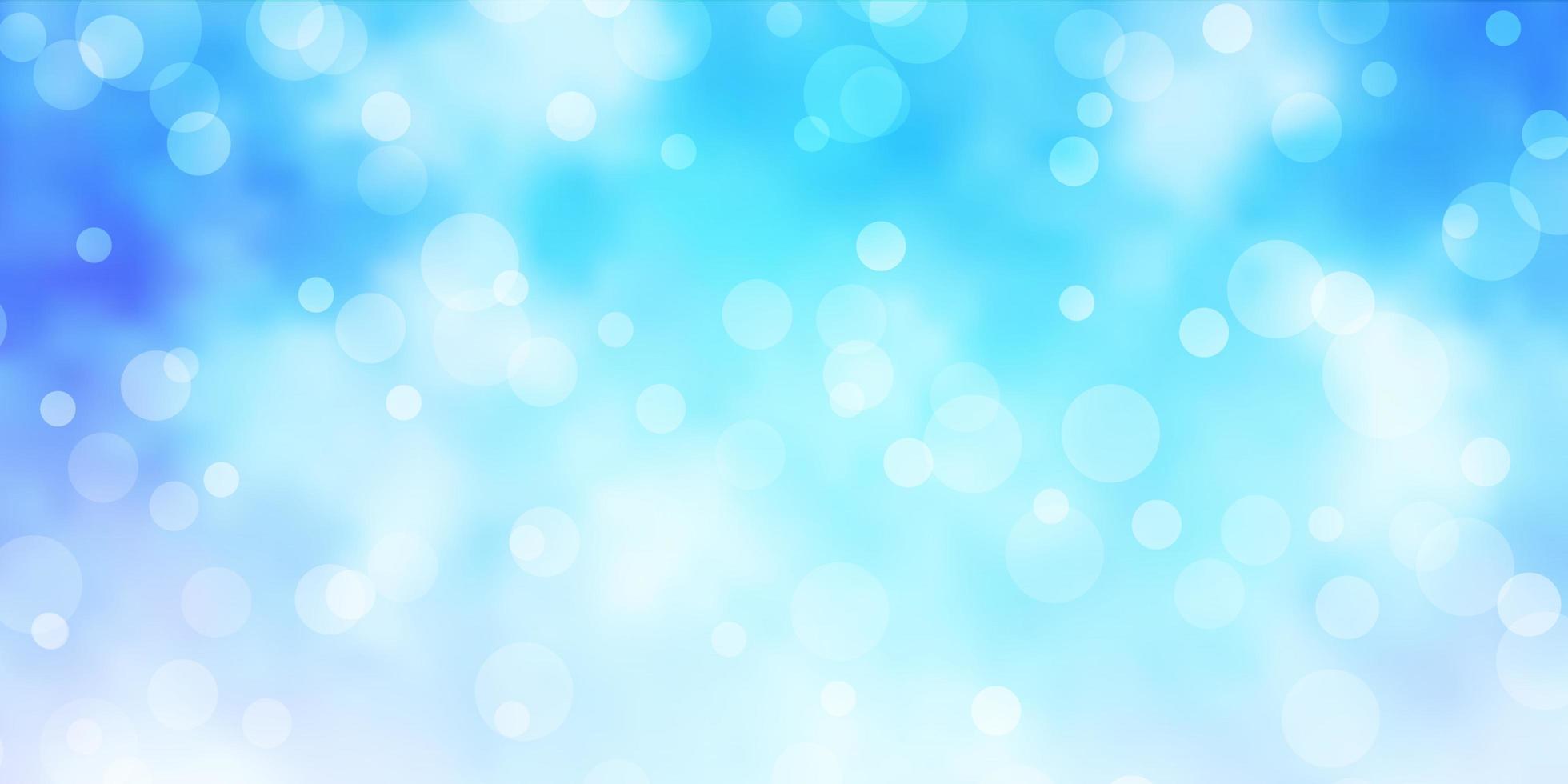 lichtblauwe vectorachtergrond met cirkels. vector