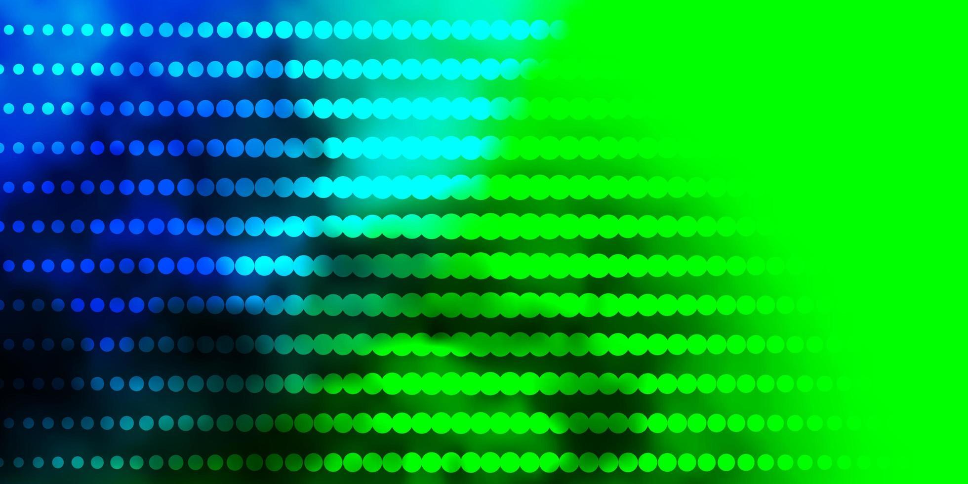 donkere veelkleurige vector achtergrond met cirkels.