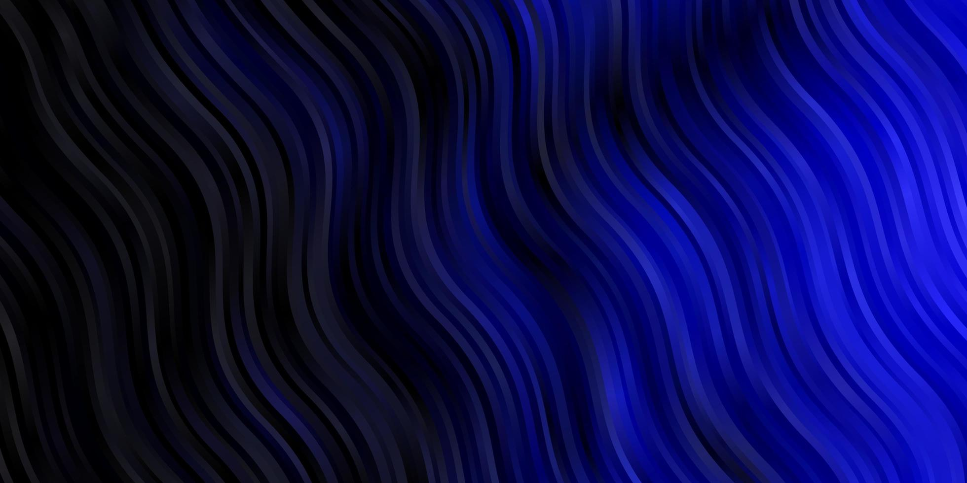 donkerblauwe vectorachtergrond met bogen. vector