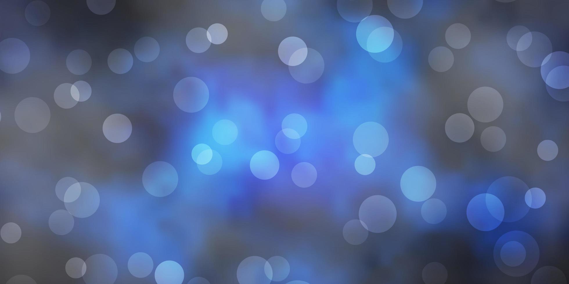 donkerblauwe vectorachtergrond met vlekken. vector