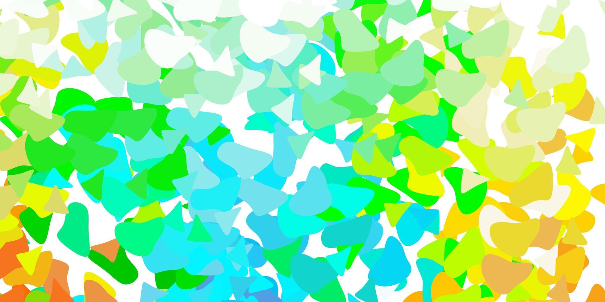 lichtblauwe, gele vectorachtergrond met chaotische vormen. vector