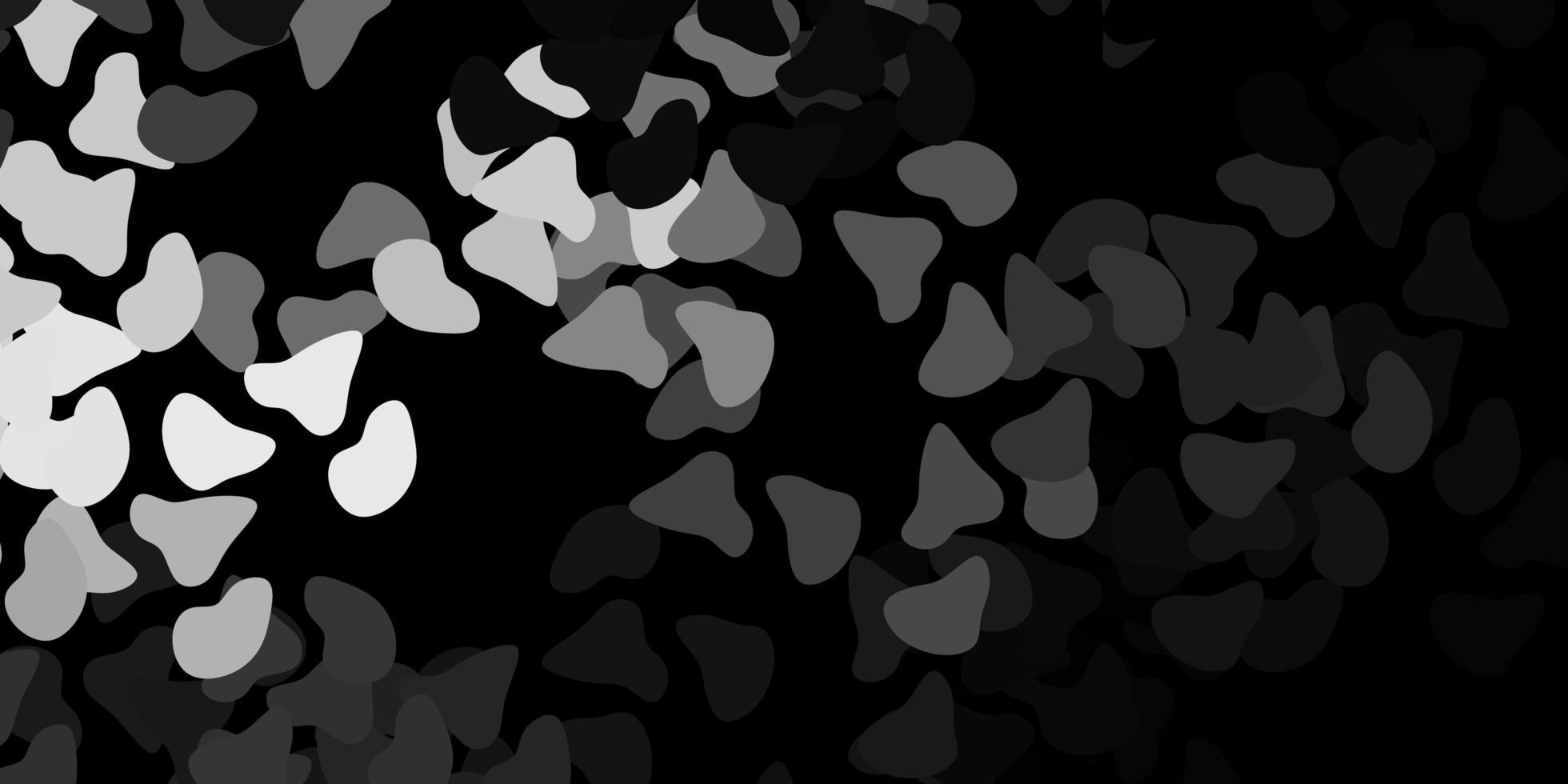 donkergrijs vectorpatroon met abstracte vormen. vector