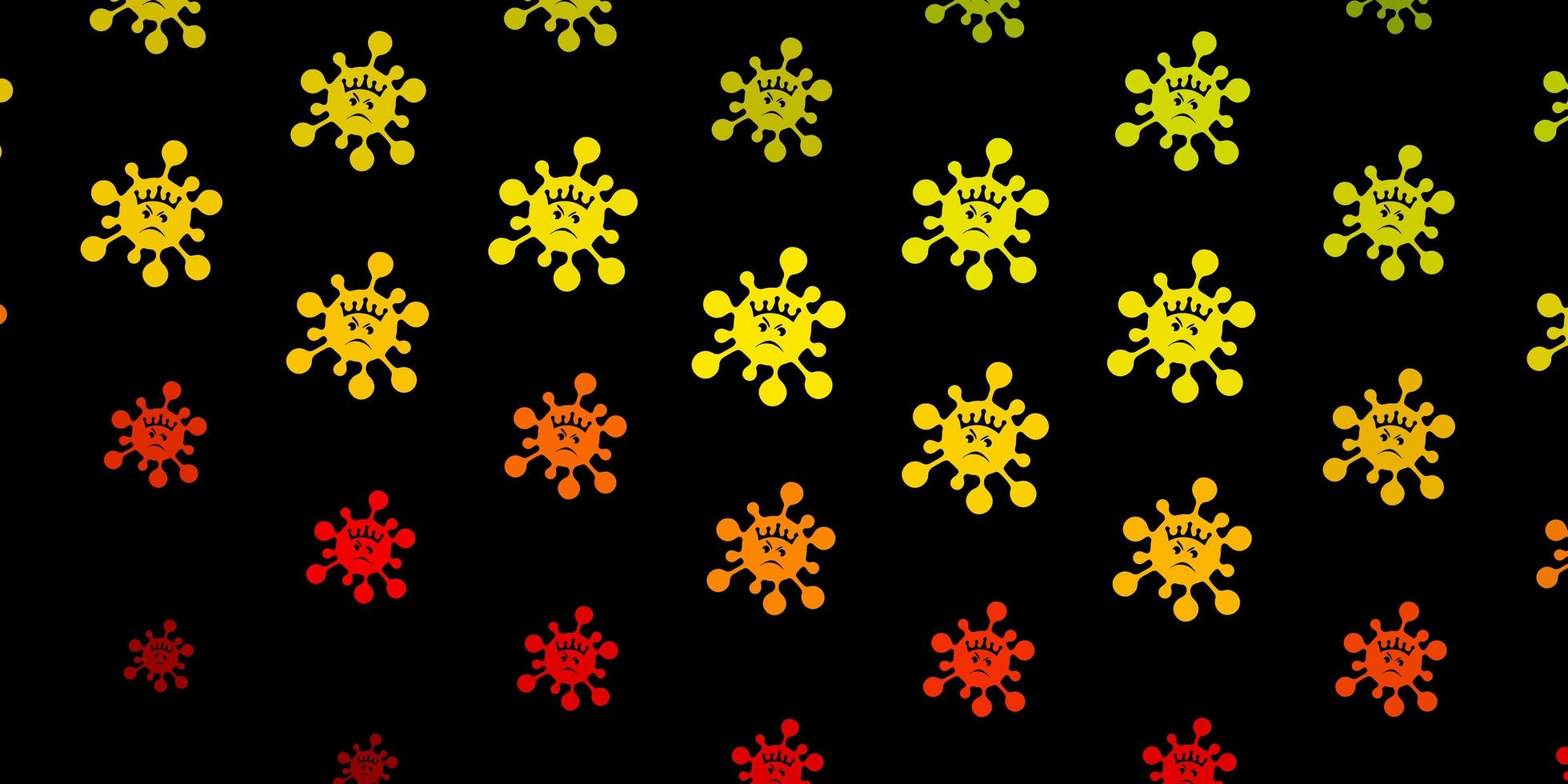 donkergroene, rode vectorachtergrond met virussymbolen. vector