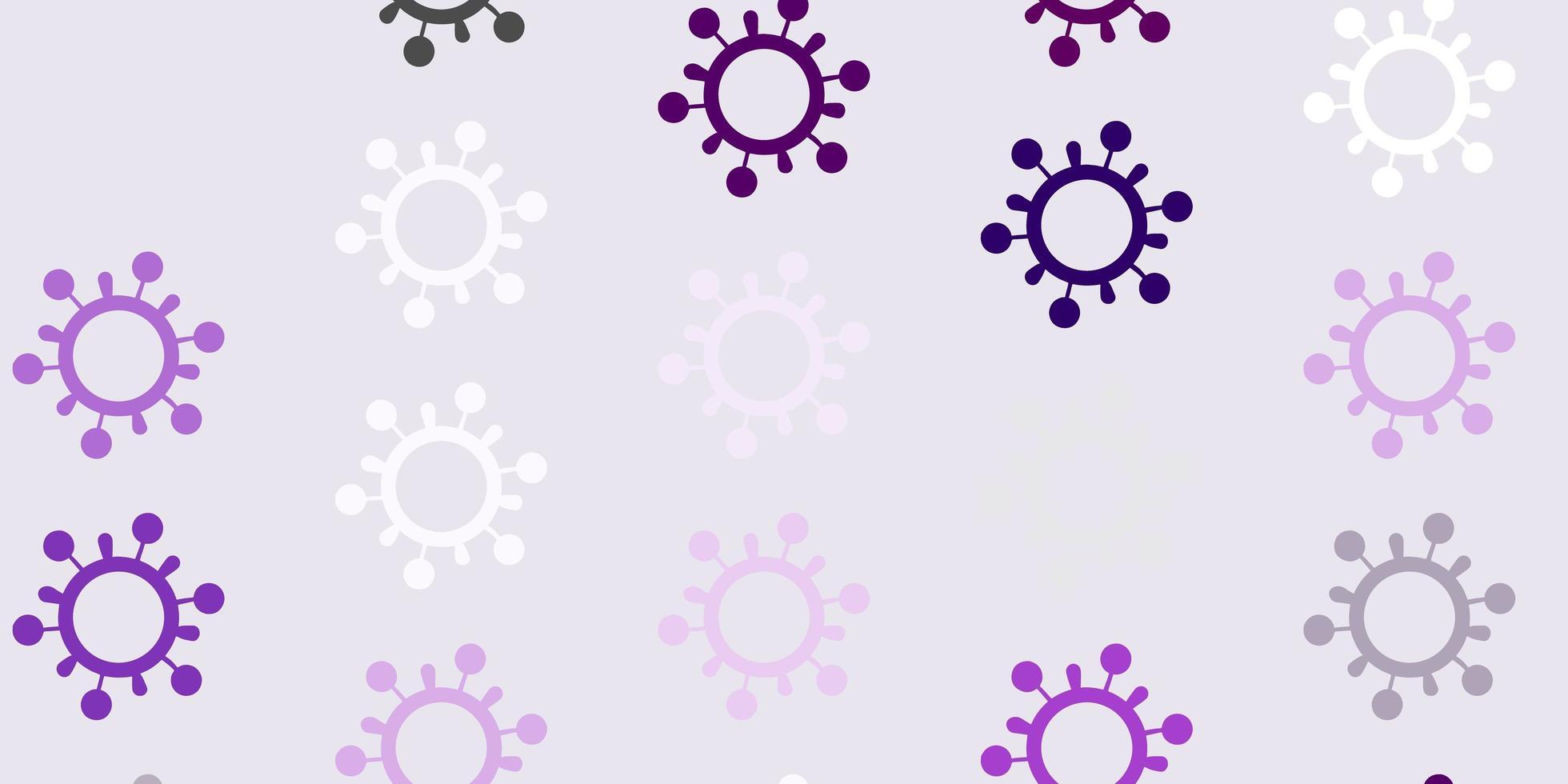 lichtpaarse vectortextuur met ziektesymbolen. vector