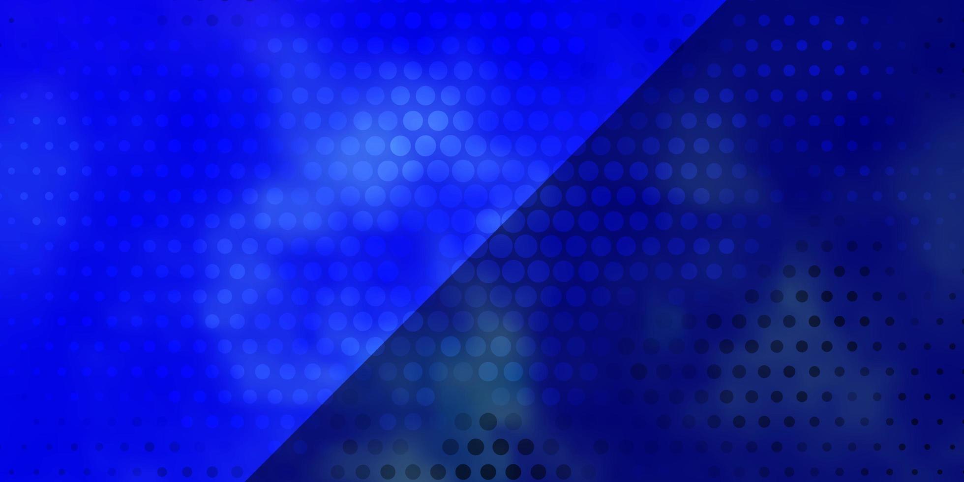 donkerblauwe vectorlay-out met cirkels. vector