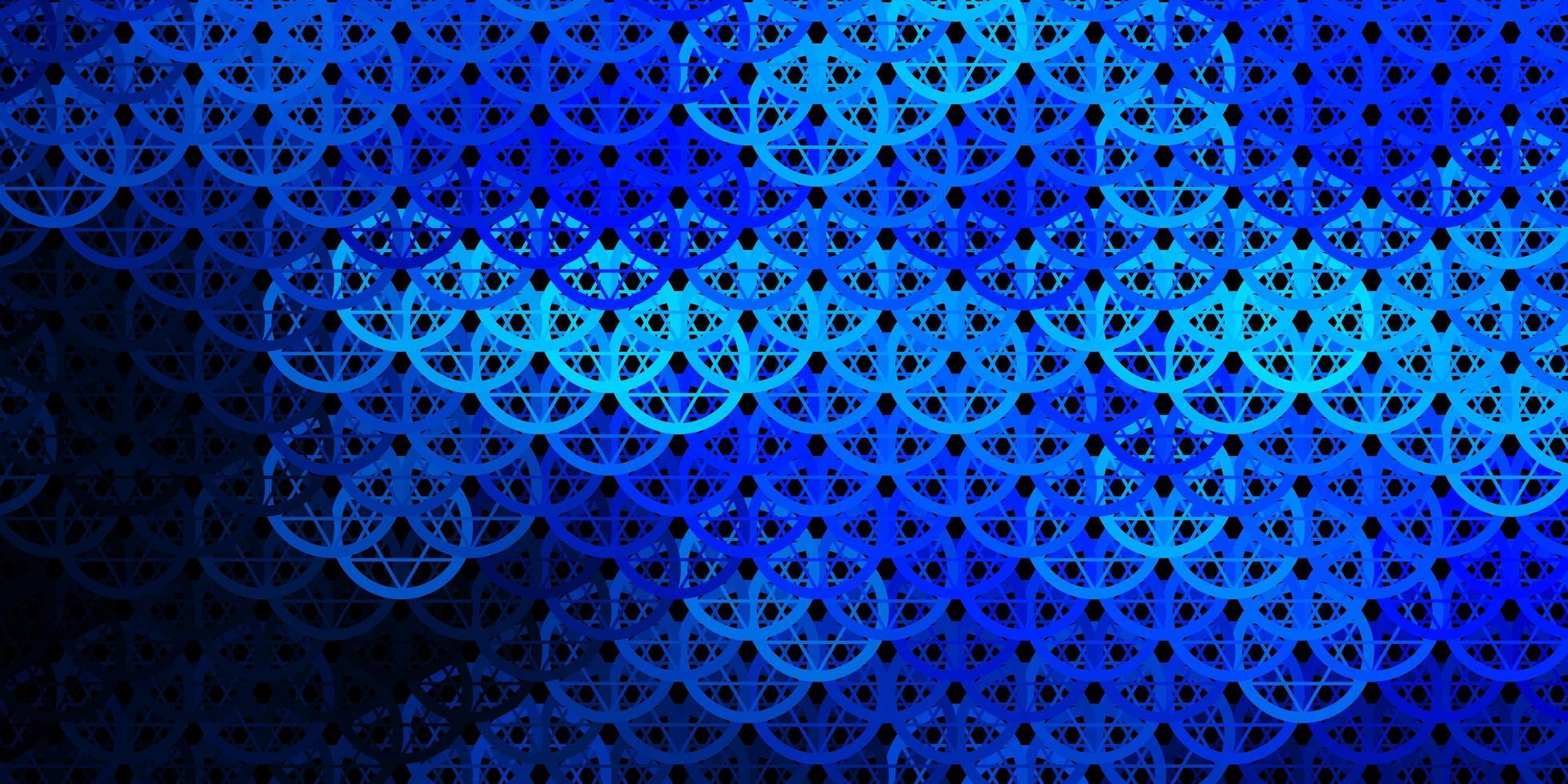 donkerblauwe vectortextuur met godsdienstsymbolen. vector