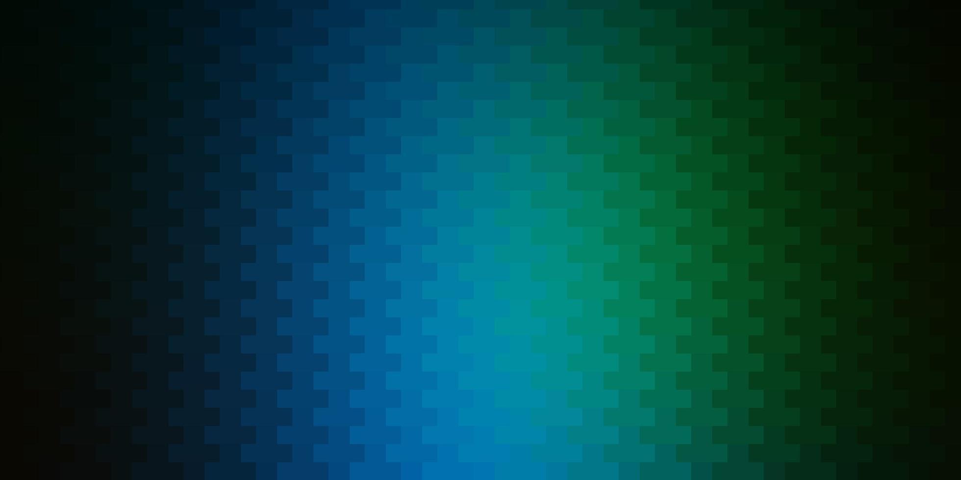donkerblauwe, groene vectorlay-out met lijnen, rechthoeken. vector