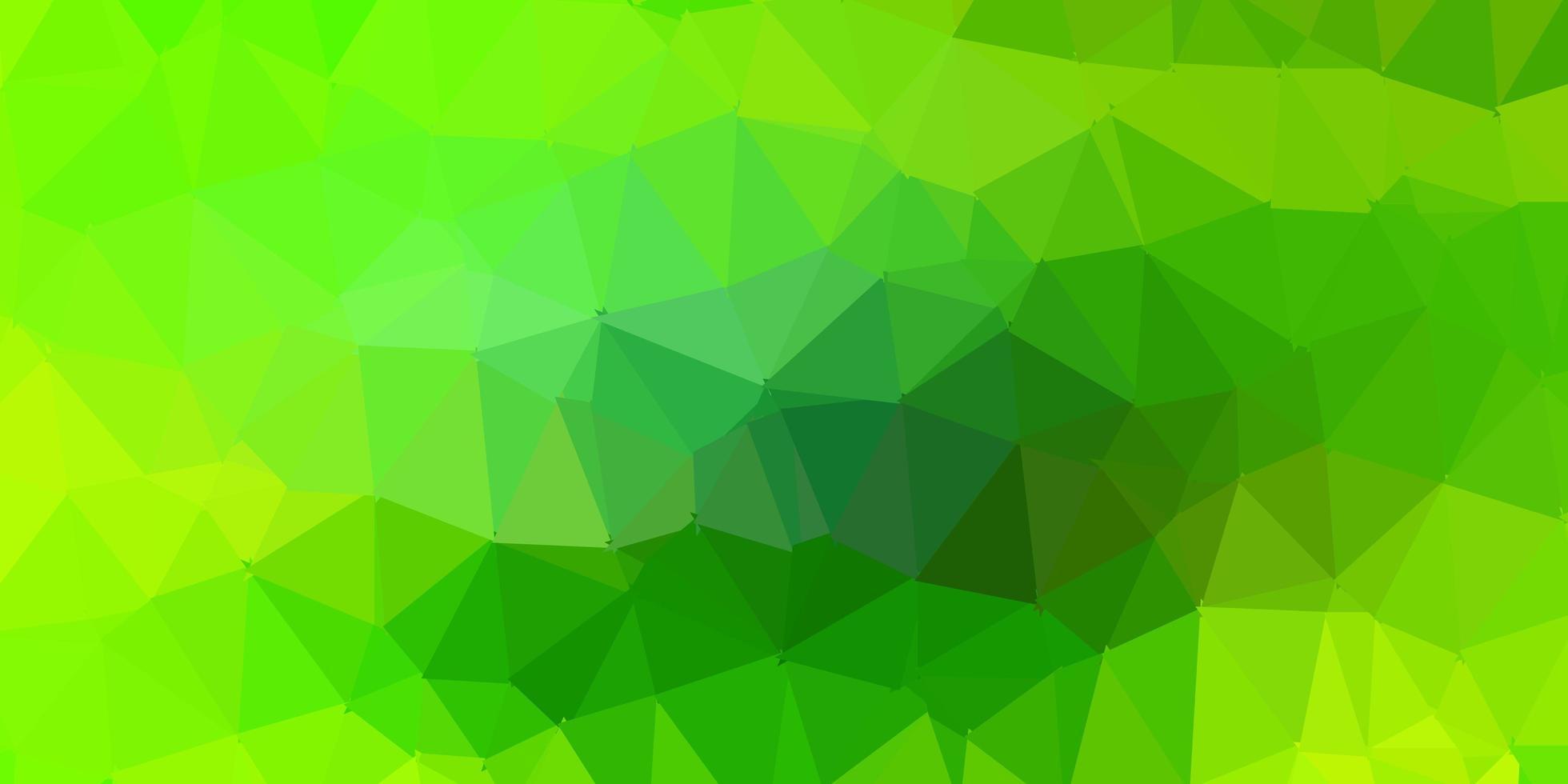 lichtgroen, geel vector driehoek mozaïek patroon.