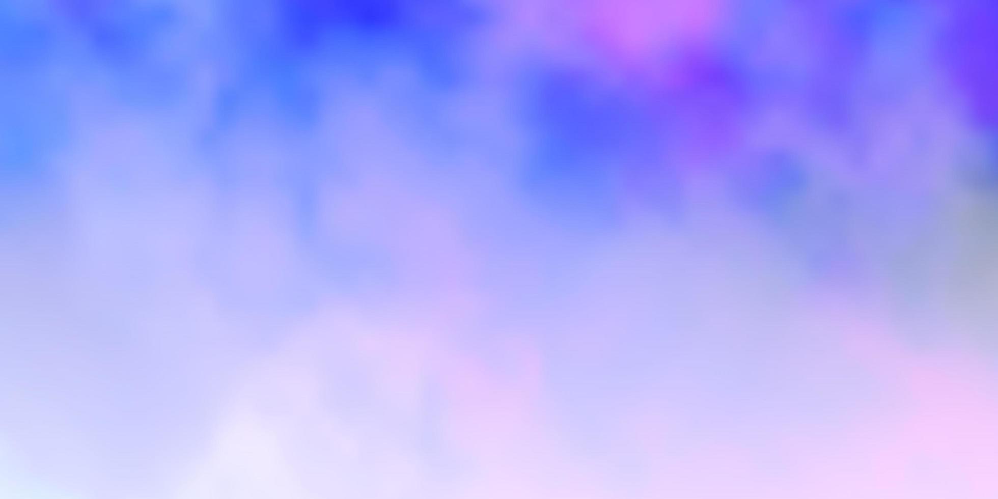 lichtroze, blauwe vectorlay-out met cloudscape. vector