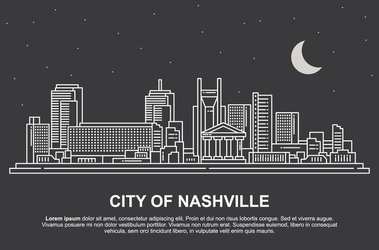 Nashville-landschap vector