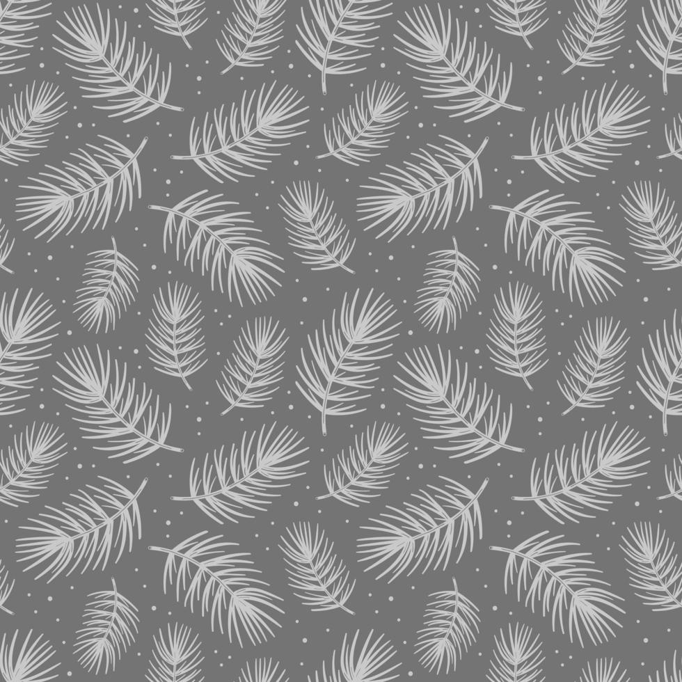 vuren tak dennenboom element. naadloze patroon textuur achtergrond. vector