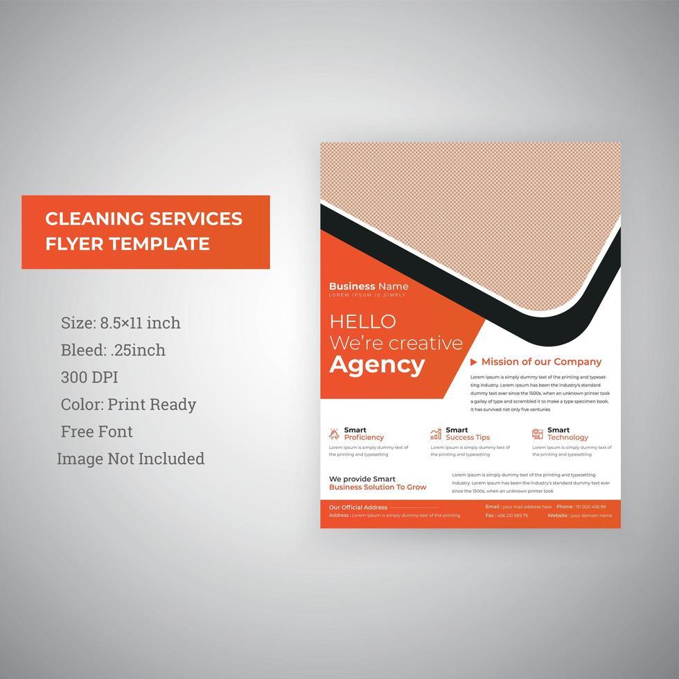 zakelijke zakelijke diensten promotionele folder sjabloon vector