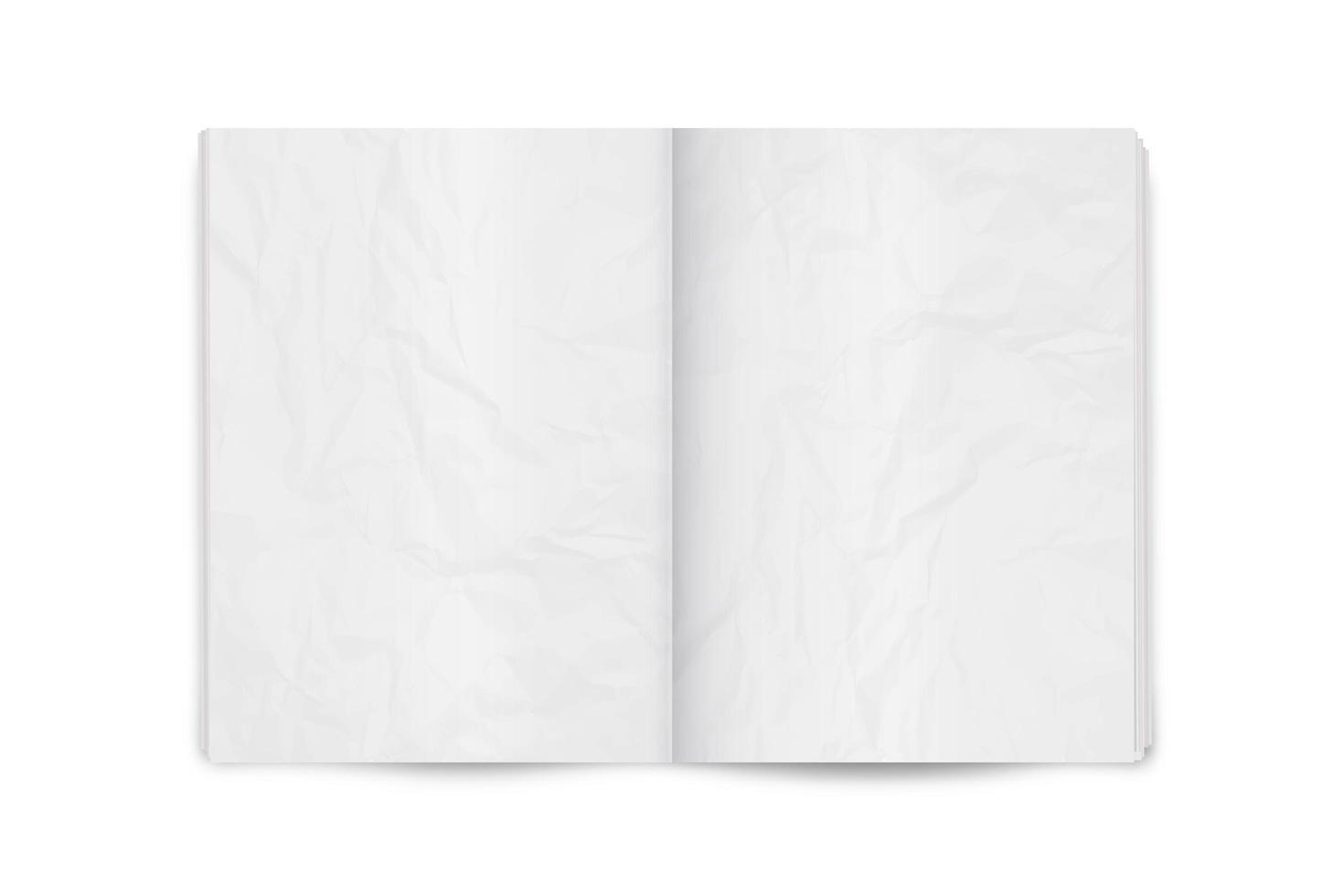 realistische vectorillustratie van de pagina verspreid tijdschrift of krant lay-out. vector