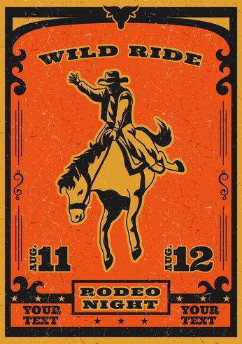 rodeo-flyer vector